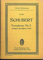Schubert : Symphonie No. 3  D dur ~ Taschenpartitur