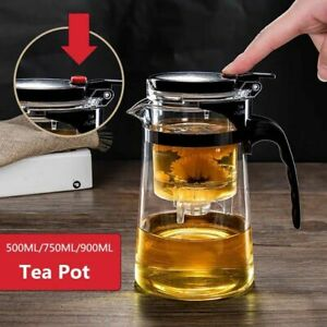 Tea Pot Heat Resistant Glass Infuser Chinese Kung Fu Set Coffee Maker Convenient