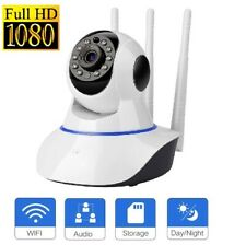 FULL HD 1080P Pan Tilt Home Wireless Camera IR Night Vision 3 WiFi Antenna