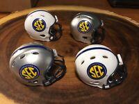 (4) Riddell Pocket Pro Football Helmets (SEC)