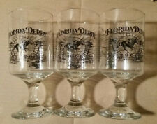 Set (3) Florida Derby 2000 GALLERY OF CHAMPIONS Drink Glass Gulfstream Park NEW!