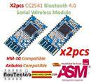 2pcs CC2541 4.0 BLE Bluetooth UART Transceiver Module CC2540 HM-10 iBeacon