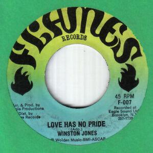 "Soul 70's Deep 7""-Winston Jones-Love Has No Pride/Part II-US Flames records #007"
