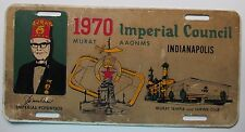 Indiana 1970 IMPERIAL COUNCIL MURAT TEMPLE and SHRINE CLUB BOOSTER License Plate