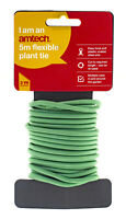 5M Metre Garden Soft Twist Plant Twine Tie Green Flexible Bendt Wire Cable New