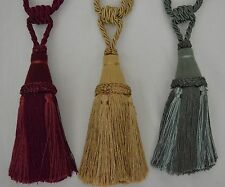 "Curtain & Chair Tie Back -26""spread with 8""tassel  - 3 Bright Colors!!"