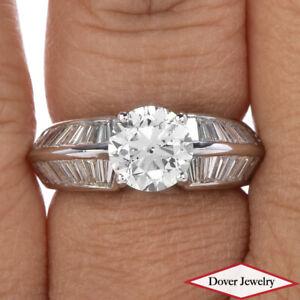 Estate 3.76cts Diamond 14K Gold Elegant Engagement Ring 7.3 Grams NR