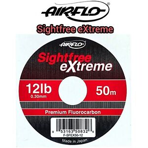 Airflo SIGHTFREE EXTREME Leader Line Fluorocarbon 50m TIPPET 12lbs Fly Fishing
