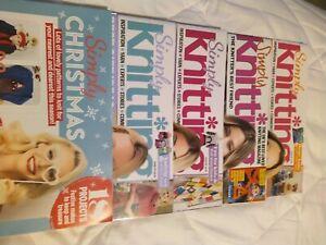 Simply knitting magazine's X 4