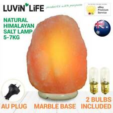 Natural Himalayan Salt Lamp Marble Base 5-7kg - FREE SPARE BULB W/ EVERY ORDER