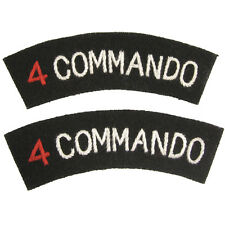 British Navy FOUR 4 COMMANDO BRIGADE Special Forces Shoulder Titles Flashes WW2