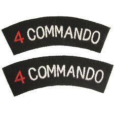 Marine Britannique QUATRE 4 COMMANDO BRIGADE Forces Spéciales Insignes D'épaule