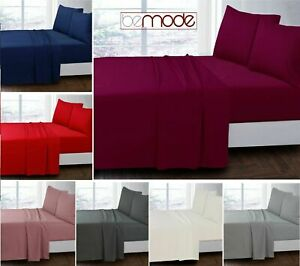 Luxury FULL FLAT SHEETS & Pillowcases 100% Cotton Poly Single 4FT Double King