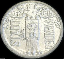 GERMAN NOTGELD- Menden (Westphalia) 1923 1 Million Mark Coin - RARE COIN