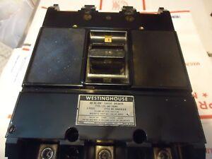 Westinghouse AB DE-ION type J 3 P 225 A frame 125 A breaker installed 600 V