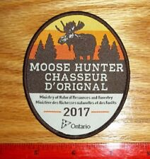 2017 ONTARIO MNR MOOSE HUNTING PATCH bear,deer,elk,hunter,canadian,patches,dnr
