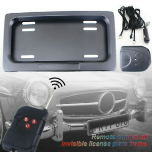 Set of Hide-Away Shutter Cover Up Electric Stealth License Plate Frame w/ Remote