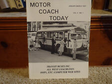 Motor Coach Today Magazine: Jan-March 1997  Transit Buses Inc/All West Coachline