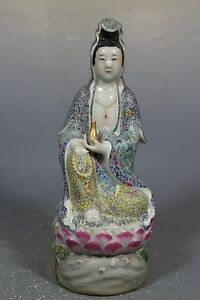 Beautiful Chinese famille rose porcelain kwan- yin