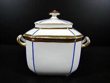 Grand sucrier Porcelaine Paris XIX epoque Louis Philippe decor or fin TBE