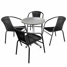 Poly rattan sedia da giardino sedia batch sedia in Rattan Marrone impilabile-mélange bianco 2 pezzi