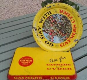 A Vintage Gaymers Cider Tin Tray advertising bar display /1950 / 60s original.