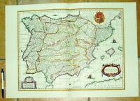 Spanien Hispaniae alte Landkarte Reproduktion 60 x 43 cm old map spain