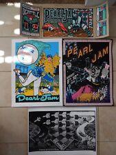 Pearl Jam Seattle 2018 - 4 Poster Set  Ames Bros Klausen Faile Emek
