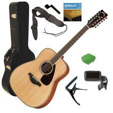 Yamaha FG820-12 12-String Acoustic Guitar - Natural STAGE ESSENTIALS BUNDLE