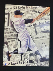 """Mickey Mantle """"Headlines"""" poster by Robert Simon. 18 x 24in."""