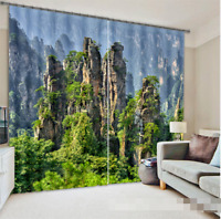 3D Mountain 427 Blockout Photo Curtain Printing Curtains Drapes Fabric Window AU