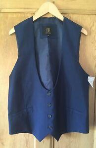 Men's Smart Blue Cavani Waistcoat/38'/New & Tags/Suiting/Formal