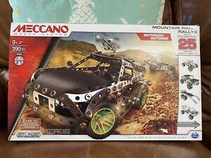 Meccano Erector Motorized Mountain Rally Vehicle Building Set, 390 Pc NEW
