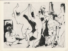 PABLO PICASSO - 07.01.54 women erotic * HELIOGRAVURE from VERVE 1954 suite