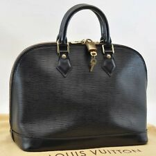 Authentic  Louis Vuitton Epi Alma Black Hand Bag M52142 #U621