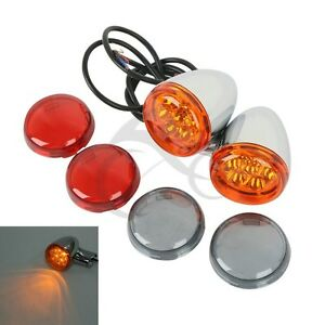 Rear Turn Signals Lights Amber Fit For Harley Sportster XL883 XL1200 1992-up