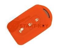 Nissan X-Trail Qashqai NV200 Evalia Pathfinder Schlüssel Silikon Hülle Orange