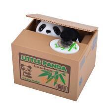 Cute Panda Pattern Stealing Coin Bank Piggy Bank Money Saving Box Great Gift New