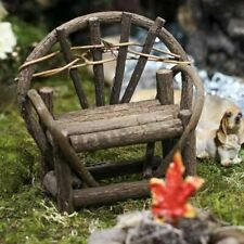 Miniature Dollhouse Fairy Garden Rustic Vine Bench - Buy 3 Save $5
