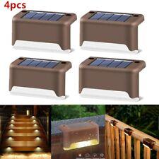 4x Solar LED Garden Light Wall Outdoor Yard Fence Deck Stairs Lights Waterproof
