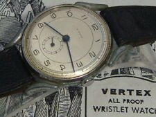 Vintage Art Deco 30s 40s spider lug oversized mens wrist watch military dial GWO