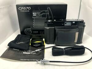 Fedex【MINT  BOXED】 FUJI FUJIFILM GF670 Pro Black Medium Format Camera From JAPAN