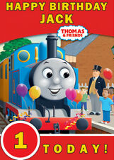 Thomas The Tank Engine Red Personalised Birthday Card Add your own name & age