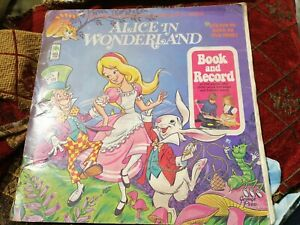 Vintage Disney Alice In Wonderland Book And Record 1971 12in