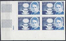MARIE CURIE Nº1533 COLECCIÓN DE 4 SELLO NO DENTADO IMPERF 1967 NEUF LUXE MNH