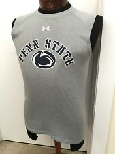 Under Armour Penn State Nittany Lions Muscle Shirt HeatGear Gray Men's Loose S