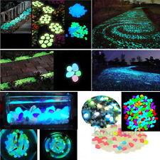 100g Mixed Color Glow in The Dark Stones Pebbles Rock FISH TANK AQUARIUM Fashion