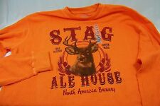 men's thermal shirt stag house beer. Large or XL