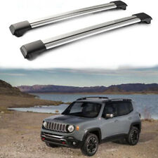 Car Top Roof Rack Cross Bars Silver Luggage Carrier For 2007-2015 Jeep Patriot
