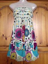 ❤️ Womens Pepper Tree Strapless bubble Hem Floral Dress Size Small 8 ❤️